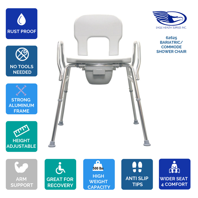 Bariatric Commode Shower Chair Raised Toilet Seat Nuvision